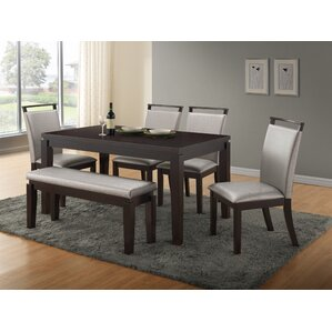 Bench Kitchen   Dining Room Sets You ll Love   Wayfair. Dining Table With Benches. Home Design Ideas
