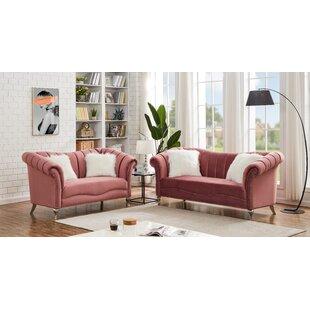 Rennick 2 Piece Standard Living Room Set by Rosdorf Park
