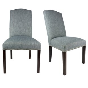 SL3004 Camelback Upholstered Parsons Chair (Set of 2) by Sole Designs
