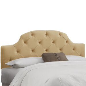 Velvet Tufted Upholstered Panel Headboard by House of Hampton