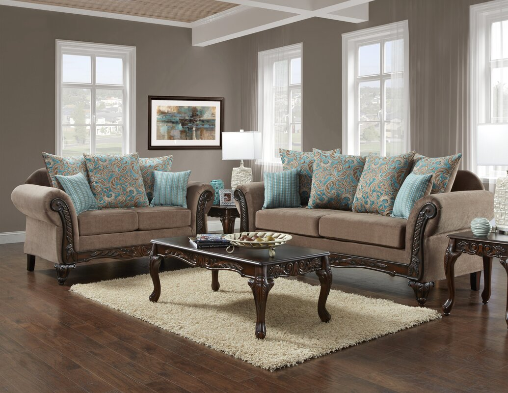 Living De yasmina loveseat by fleur de lis living cheap sofas