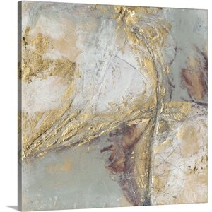 'Gilded Circuit I' by Jennifer Goldberger Painting Print on Wrapped Canvas by Great Big Canvas