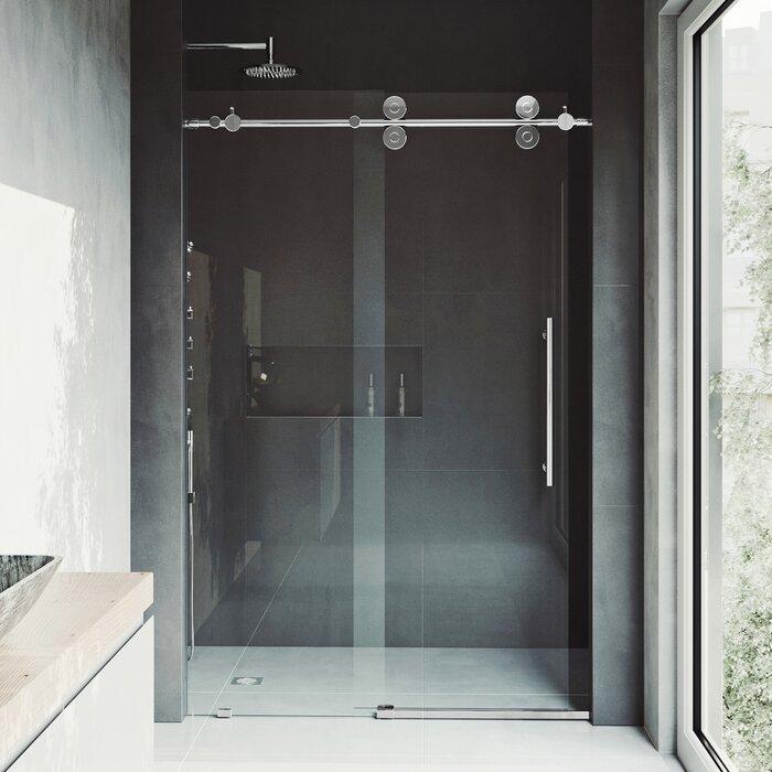 Vigo Elan 52 X 74 Single Sliding Frameless Shower Door Reviews
