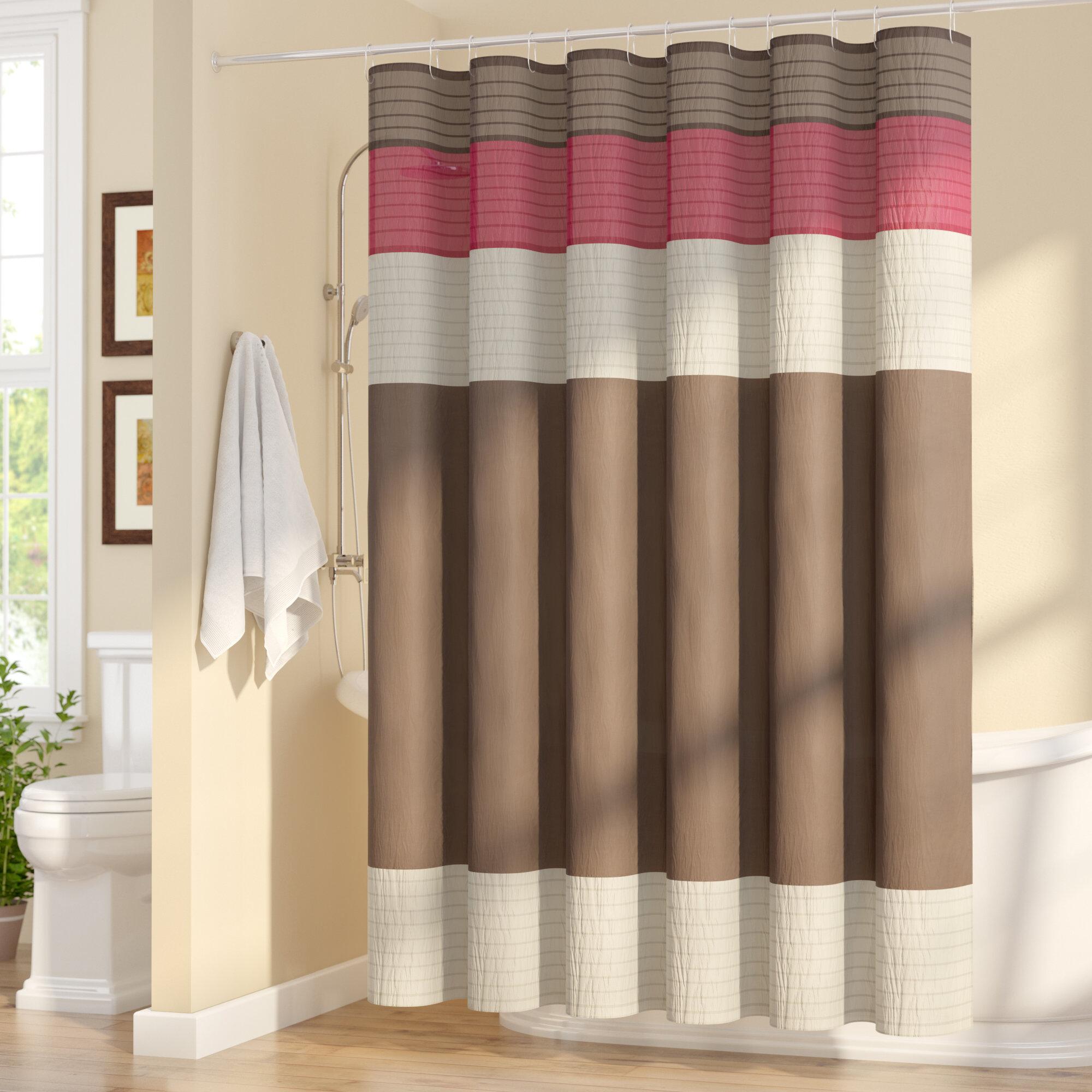 Three Posts Berardi Shower Curtain & Reviews | Wayfair.ca