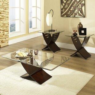Alexios 3 Piece Coffee Table Set by Wade Logan