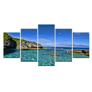'Grunge Pano II' 5 Piece Photographic Print on Wrapped Canvas Set by Ebern Designs