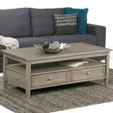 Alameda Solid Wood Coffee Table with Storage by Alcott Hill®