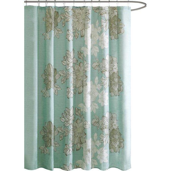 Charlton Home Samford Printed Shower Curtain & Reviews   Wayfair