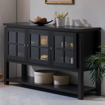 """Andover Mills Heurich 59"""" Wide Buffet Table  Color: Black"""