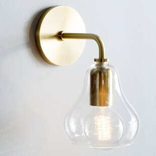 Best Price Amina 1-Light Armed Wall Sconce By Trent Austin Design