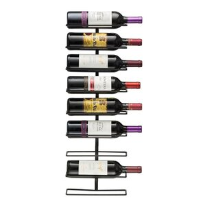 9 Bottle Wall Mounted Wine Rack by Rebrilliant