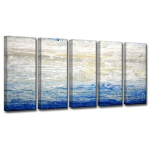 Crest V 5 Piece Painting Print on Wrapped Canvas Set by Breakwater Bay