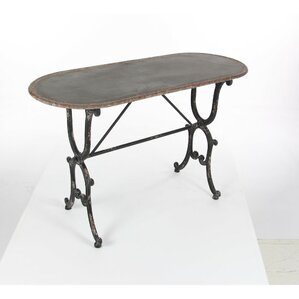 Annsville Antiqued Metal Console Table by Fleur De Lis Living