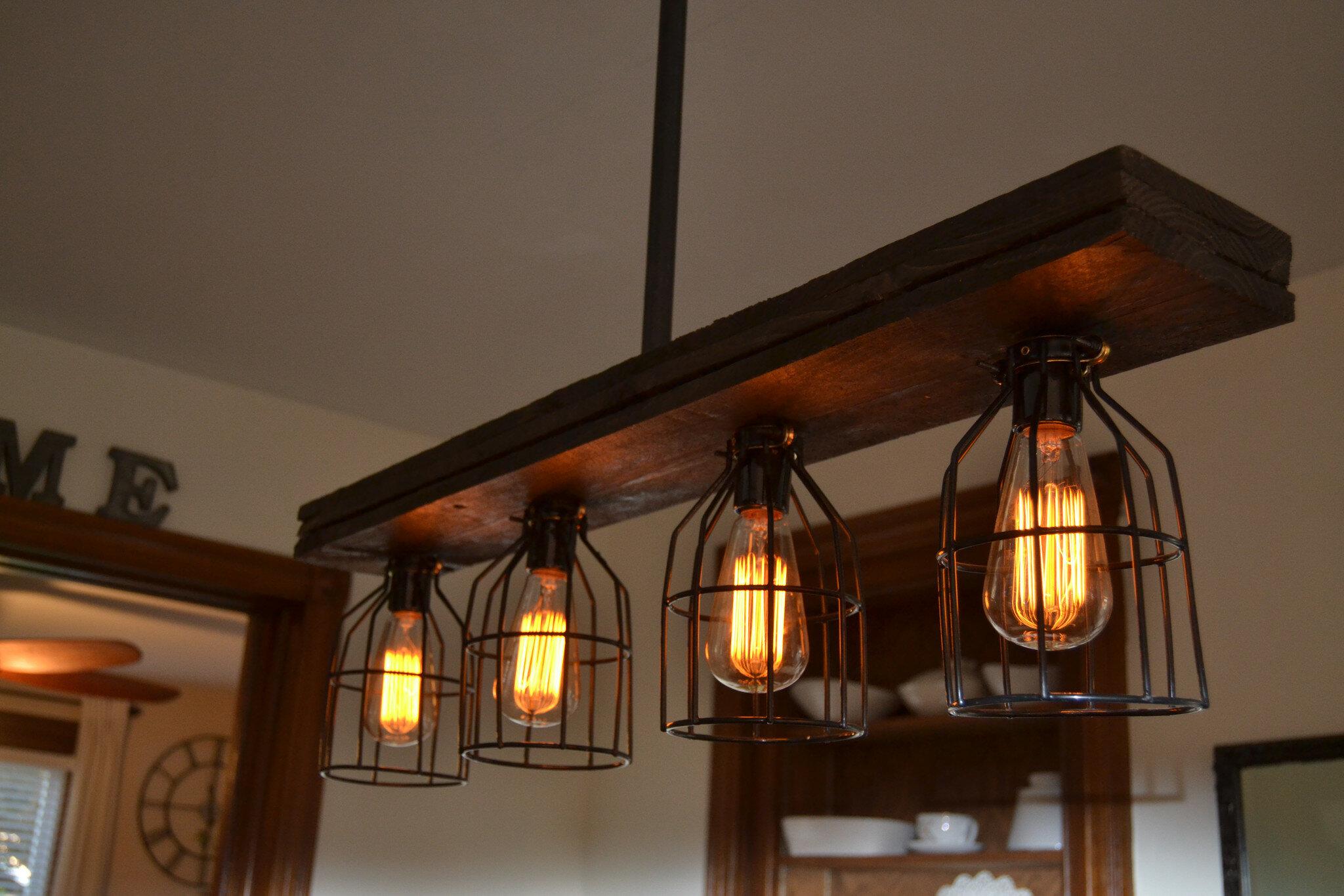 wood lighting. West Ninth Vintage Triple Wood 4-Light Kitchen Island Pendant \u0026 Reviews | Wayfair Lighting