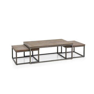 Read Reviews Vozelle 3 Piece Coffee Table Set ByGracie Oaks