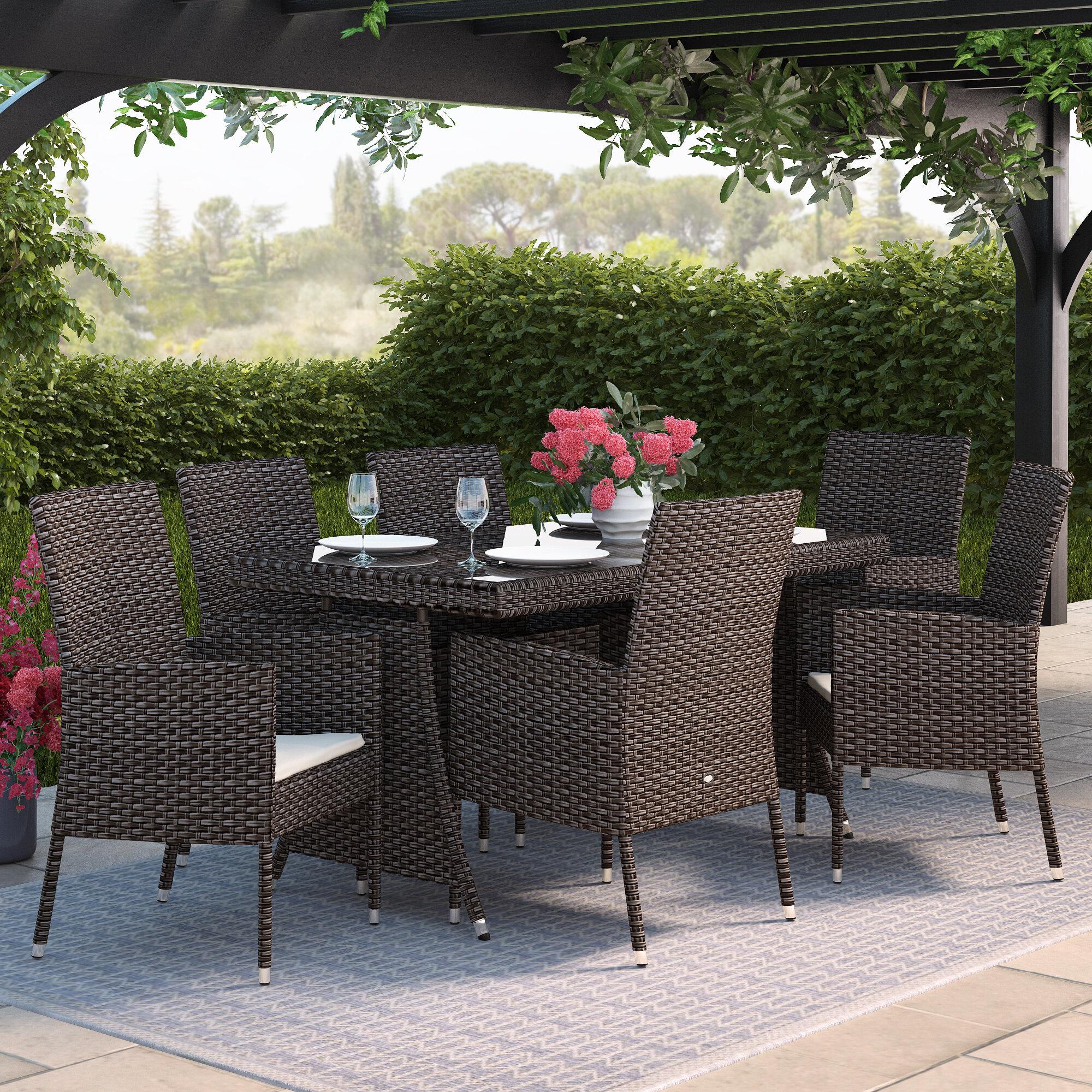 Merxx 6-Sitzer Gartengarnitur Gran Canaria mit Polster & Bewertungen ...