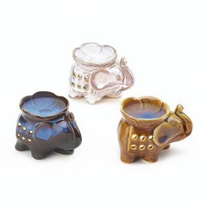 Elephant Oil Warmer (Set of 3)