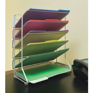 6-Tray Vertical Desktop/Wall Mount Organizer