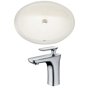 Affordable Price CUPC Ceramic Oval Undermount Bathroom Sink with Faucet and Overflow ByAmerican Imaginations