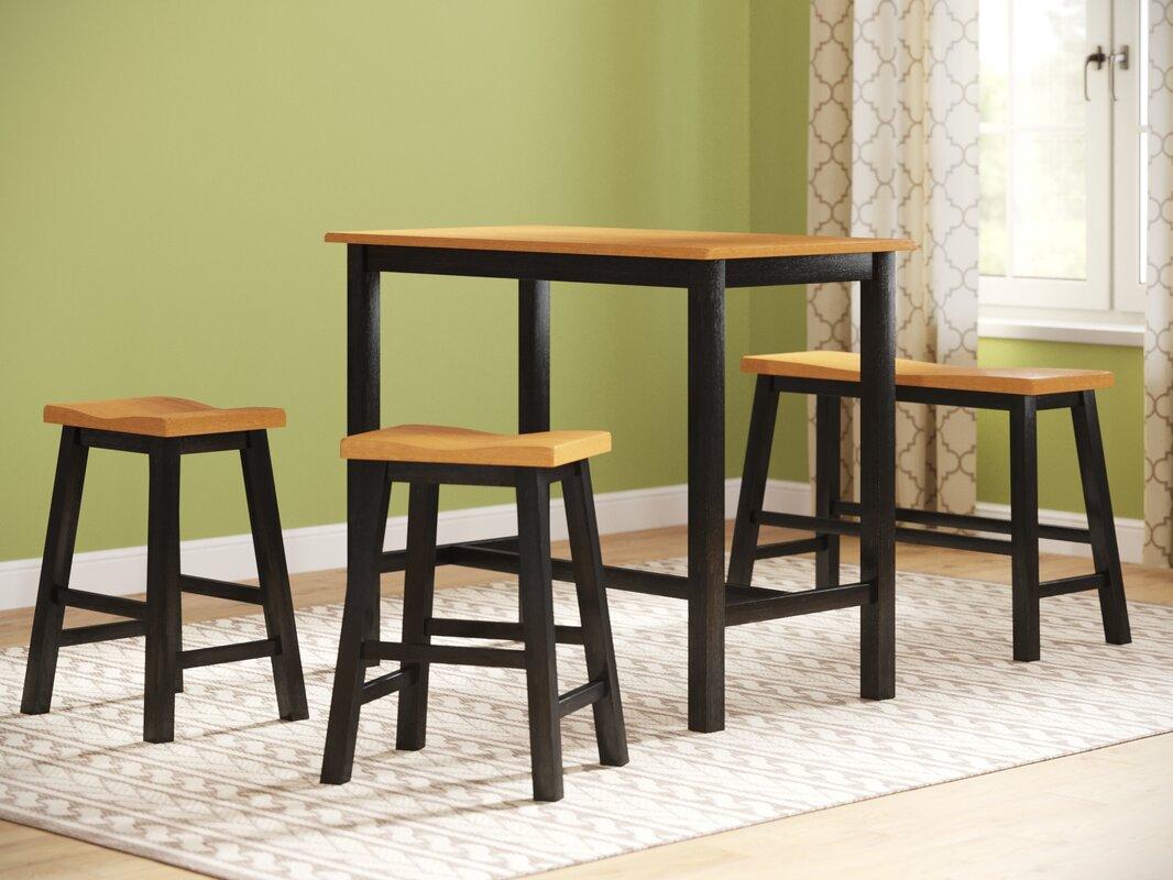Lamantia 4 Piece Counter Height Pub Table Set