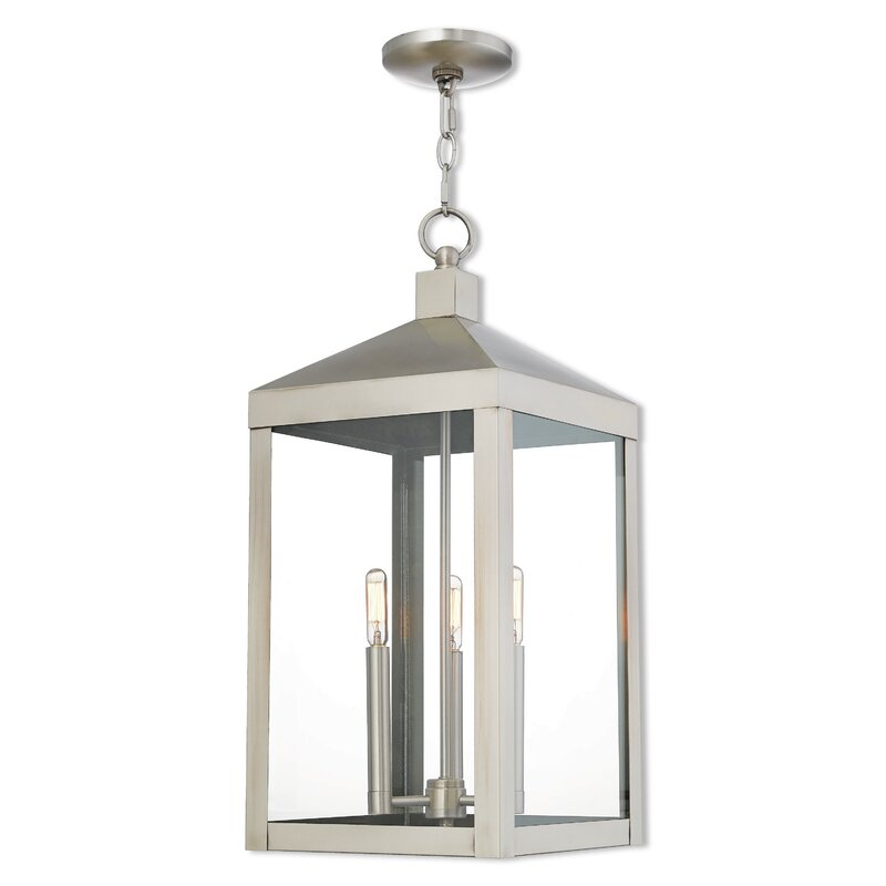 Demery 3 light led outdoor hanging lantern reviews allmodern demery 3 light led outdoor hanging lantern mozeypictures Gallery