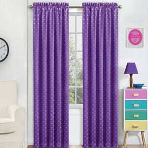 Bamberg Polka dots Blackout Thermal Rod Pocket Single Curtain Panel