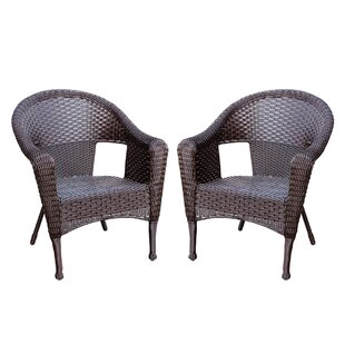 Kentwood Resin Wicker Patio Chair Without Cushion (Set Of 2)