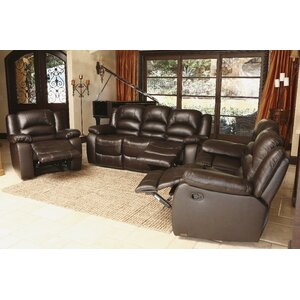 3 Piece Leather Living Room Set Abbyson Living