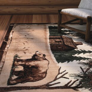Guide to buy Lacour High Quality Woven Ultra-Soft Wilderness Bear Scene Berber Area Rug By Loon Peak