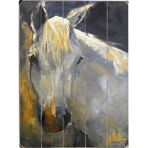 White Horse Wall Art by Three Posts