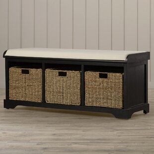 Seminole Wood Storage Bench by Beachcrest Home