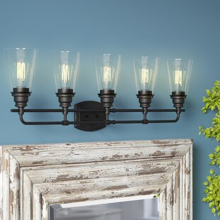 Read Reviews Clayton 5-Light Vanity Light By Laurel Foundry Modern Farmhouse