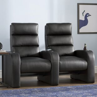 Manual Rocker Recline Home Theater Row Seating Row of 2