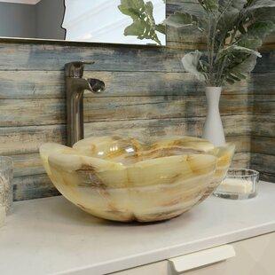 Price comparison Onyx Stone Circular Vessel Bathroom Sink ByOnyx Marble Designs