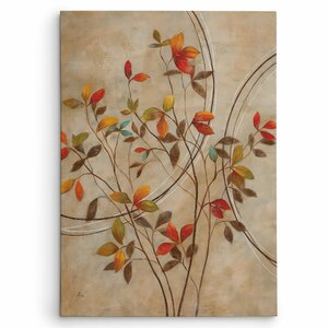'Autumn's Delight I' by Nan Painting Print on Wrapped Canvas by Wexford Home