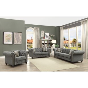 Lanark 3 Piece Living Room Set by Three Posts™