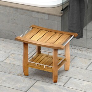 Teak Fully Assembled Rectangle Shower Seat