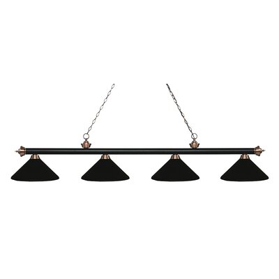 Red Barrel Studio Brynlee 4 Light Pool Table Lights Linear Pendant Red Barrel Studio Finish Matte Black Antique Copper Shade Color Matte Black From Wayfair North America Daily Mail