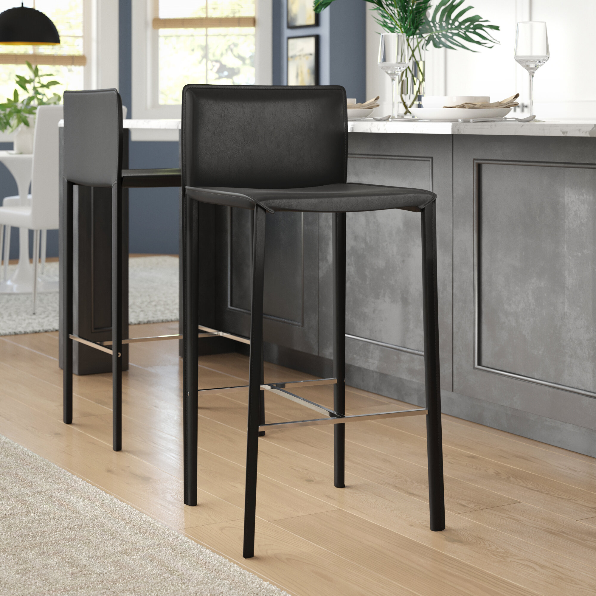 Groovy Brayden Studio Reser 30 Bar Stool Reviews Wayfair Gmtry Best Dining Table And Chair Ideas Images Gmtryco