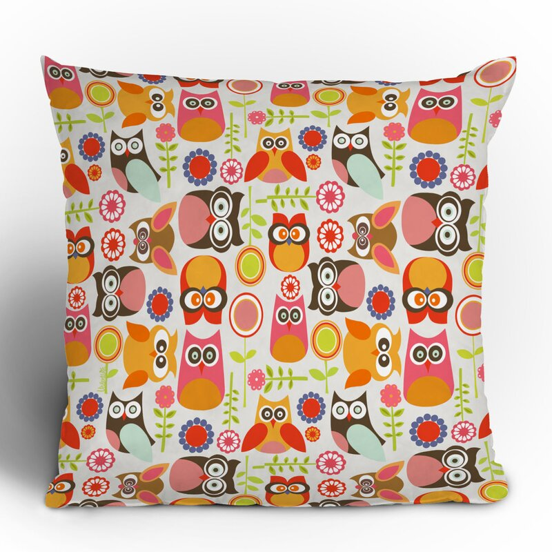 Valentina Ramos Cute Little Owls Throw Pillow
