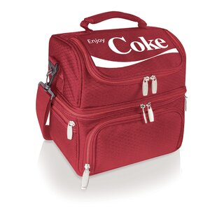 Coca-Cola Poly Canvas Multi-Purpose Gray Travel Bag Zippered Pockets NEW