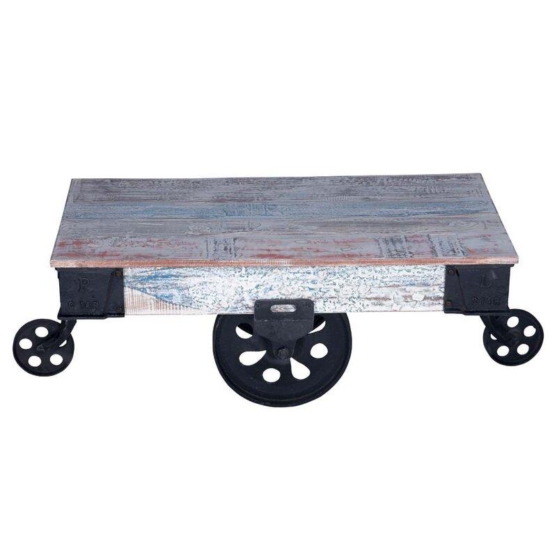 Ellingsworth Industrial Cart Coffee Table
