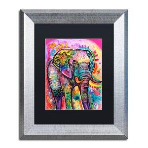 'Elephant' Framed Graphic Art Print by Trademark Fine Art