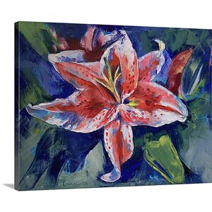 Tiger Lily by Michael Creese Painting Print on Canvas by Canvas On Demand