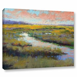 'A Glimmer on the Marsh' Graphic Art Print on Canvas by August Grove
