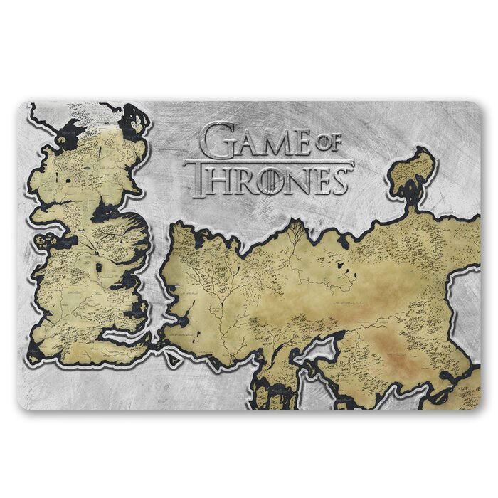 Game Of Thrones Westeros Map Wall Decor
