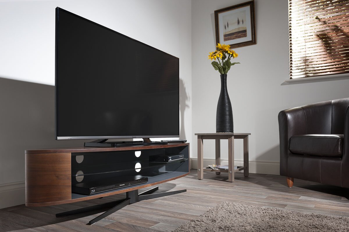 techlink tv regal ellipse f r fernseher bis 70. Black Bedroom Furniture Sets. Home Design Ideas