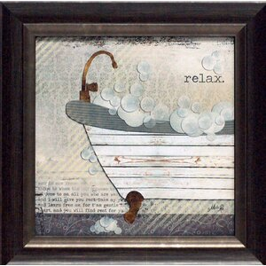 'Relax Texture Coated Bathroom' Framed Graphic Art by Andover Mills