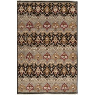 Inexpensive Cady Hand-Knotted Wool Medium Gray/Black Area Rug By Bloomsbury Market