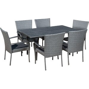 Outdoor Dining Furniture six person patio dining sets you'll love | wayfair